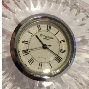 Waterford Accents - Waterford Cut Crystal Quartz Clock Paperweight